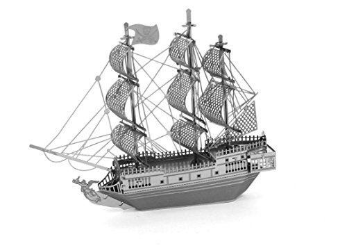 MetalEarth 3D Metal Model - Black Pearl Pirate Ship (Ship Models Pirate)