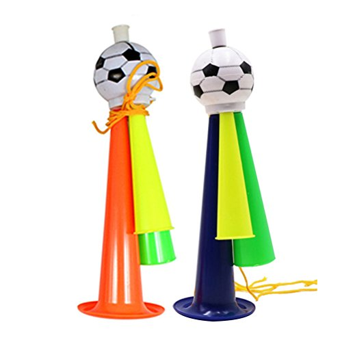STOBOK 5Pcs Football Game Speakers Football Fans Trumpet Game Party Concert Horn Plastic Ornaments Size L (Random Color)