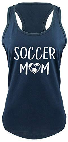 Comical Shirt Ladies Racerback Tank Soccer Mom Navy L