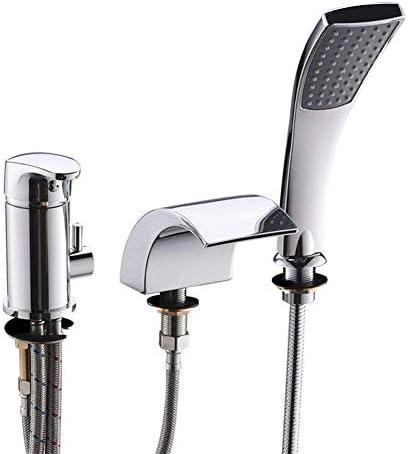 Zxyan 蛇口 立体水栓 XIAOFENG-BATHバスルームアクセサリーバスルームのシャワーヘッド3の穴の滝のバスタブ蛇口ハッピーシャワー付きのシャワーヘッドアウトミックス蛇口バスルームのプル トイレ/キッチン用