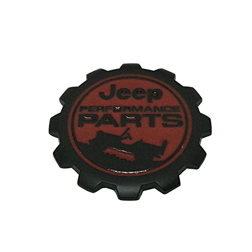 (New 1pcs Black and Red Jeep PERFORMANCE PARTS 4X4 Truck Tailgate Fender Emblem Badge Decal )