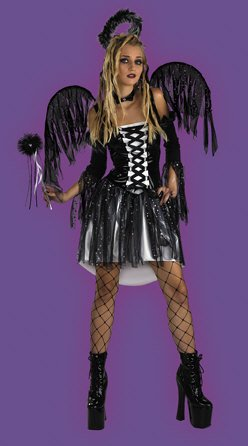 Angel Halloween Costumes For Tweens (Child Fallen Angel Dress - X-Large 14-16)