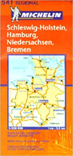 Map Of North West Germany.Michelin Map No 541 Northwest Germany Scale 1 300 000 Michelin