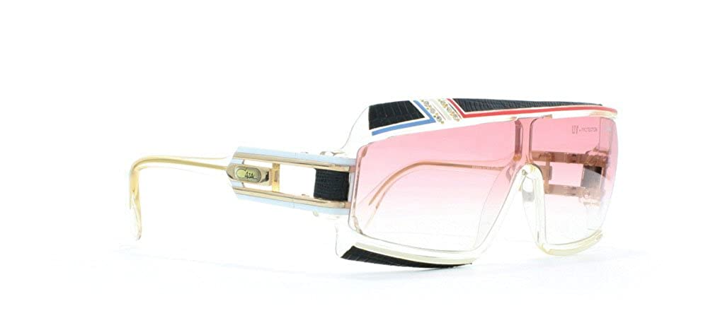 05714aa22d Cazal 858 Dlx 252 Clear Black Red Blue Rectangular Certified Vintage  Sunglasses For Mens and Womens  Amazon.co.uk  Clothing