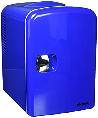 gourmia gmf 600b portable 6 can mini fridge cooler and warmer for home office car. Black Bedroom Furniture Sets. Home Design Ideas