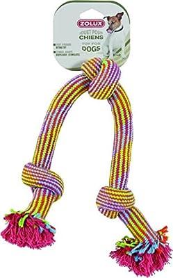 Zolux Pack de 3 Juguetes Cuerdas Nudos para Perro 48 cm: Amazon.es ...