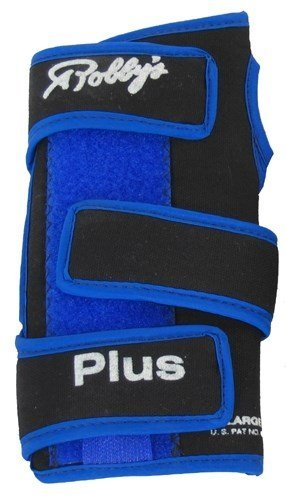 Robby's Coolmax Plus Right Wrist Support, Black/Blue, Medium