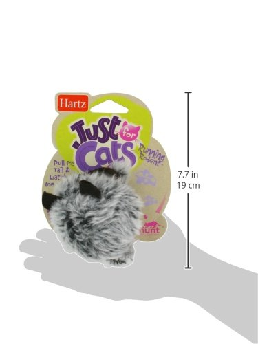 51S76bkmerL Hartz Just For Cats Running Rodent Vibrating Plush Mouse Cat Toy