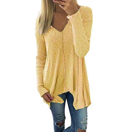 XOWRTE Women's Batwing Oversize Autumn Long Sleeve Pullover Sweater T-Shirt Tunic Blouse Tops