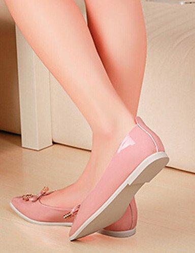 shangyi Chaussures Femme–Ballerines–Lässig–en cuir synthétique–Plat Paragraphe–Confort/Chaussures à bout pointu/fermé orteils–Noir/Rose/Blanc noir - noir lxXrK52IC