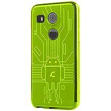 LG Nexus 5X Case, Cruzerlite Bugdroid Circuit Case Compatible for LG Nexus 5X - Green