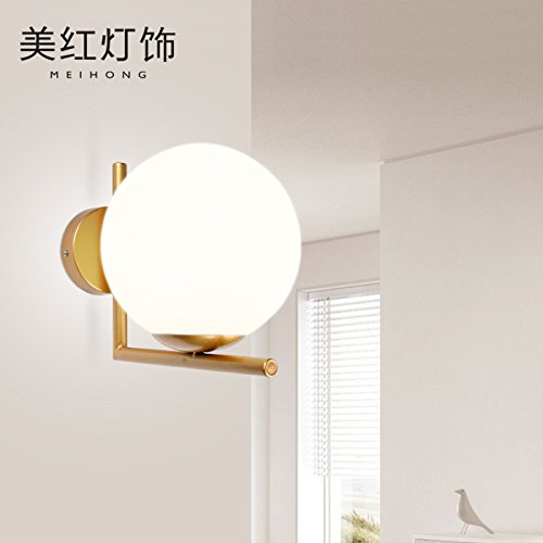 YYHAOGE Apliques Lámpara De Pared Diseño Salón Dormitorio Estudio Lámpara De Mesilla Lámpara Estilo Art Deco: Amazon.es: Iluminación