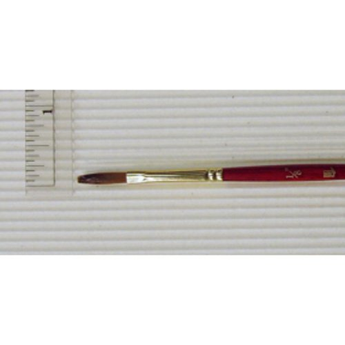 Princeton Heritage, Golden Taklon Brush for Watercolor & Acrylic, Series 4050 Stroke Synthetic Sable, Size 1/8 inch PRINCETON ARTIST BRUSH 4336959320 AV-4050ST-012