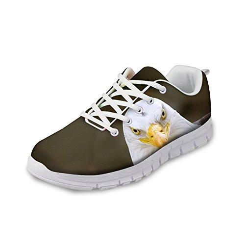 Abbracci Idea 3d Animali Modello Mens Moda Sneakers Leggera Aquila