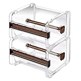 Dometool 2pcs Washi Tape Dispenser Cutter,Roll Tape
