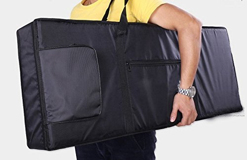 Tosnail 61-note Keyboard Gig Bag Piano Case Padded with 6mm Cotton - 39'' x 16'' x 6'' (61 Note Keyboard) by Tosnail (Image #5)