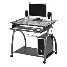 ACME 00118 Vincent Computer Desk, Silver