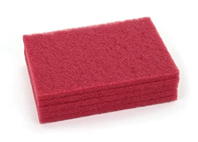Clarke 976558 Commercial 12 Inch X 18 Inch Red Scrubber/Buffing Pad, Case of 5