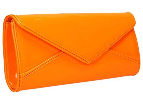 De Soirée Verni Perry En Orange Swankyswans Cuir Pochette vqnzwWxfT