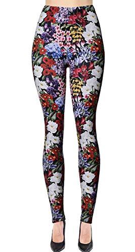 Largest Selection - VIV Collection Printed Brushed Leggings (Flower