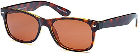 Gamma Ray Polarized UV400 Classic Style Sunglasses with Mirror Lens