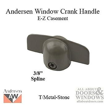 Casement window operator universal tee handle, diecast zinc.