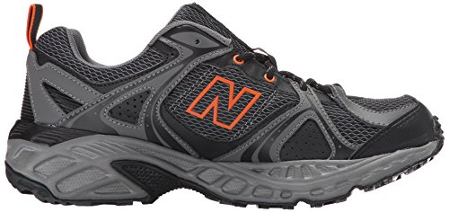 New Balance hombres del 481V2Trail Running Shoe Negro/Anaranjado