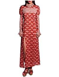 Women'S Coral Rosine Rose Long Sleeve Dress
