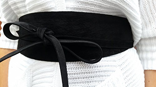 VIKTOR SABO Handmade OBI Suede BLACK For Waist line Up To 36