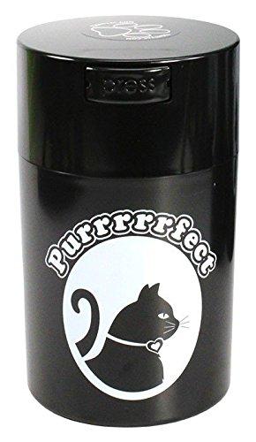 pawvac-6-ounce-vacuum-sealed-pet-food-storage-container-black-cap-body-white-cat