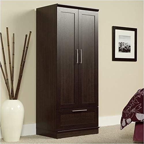Pemberly Row Wardrobe Armoire with 1-Drawer in Dakota Oak