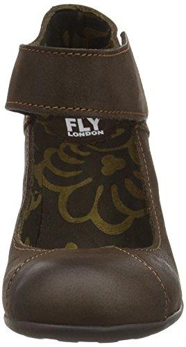 FLY London Jupe, Sandalias con Plataforma para Mujer Marrón (Mocca 008)