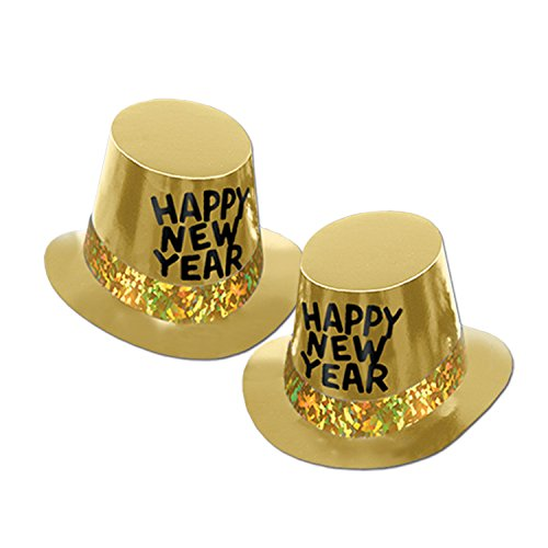 New Years Eve Hats Bulk - Beistle 88140-GD25 Party Supplies, One size