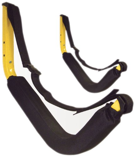 Wall-mounted kayak storage with straps