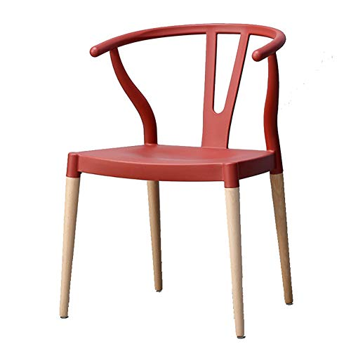 (Dining Chairs Dining Table Chair Kitchen Chairs-Nordic Dining Chair Modern Minimalist Home Restaurant Y Chair New Chinese Solid Wood HENGXIAO (Color : Red Wine))