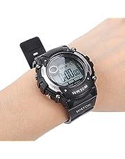 Barns digitala sportklocka, trendigt utseende Vattentäta elektriska klockor för pojkar svart