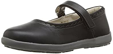 See Kai Run Girls Mary Jane Flat, Black, 9.5 M US Toddler