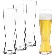Spiegelau Classics Pilsner Beer Glasses - (Set of 4, Clear Crystal)