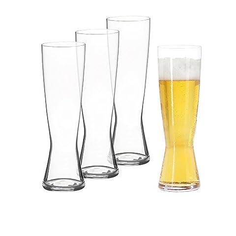 Spiegelau Classics Pilsner Beer Glasses - (Set of 4, Clear Crystal) - German Drinking Boot