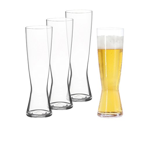 Plastic Chalice Cup - Spiegelau Classics Pilsner Beer Glasses - (Set of 4, Clear Crystal)
