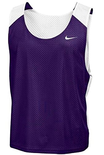 Nike Men's Lax Mesh Reversible Lacrosse Tank Top-Purple-L/XL