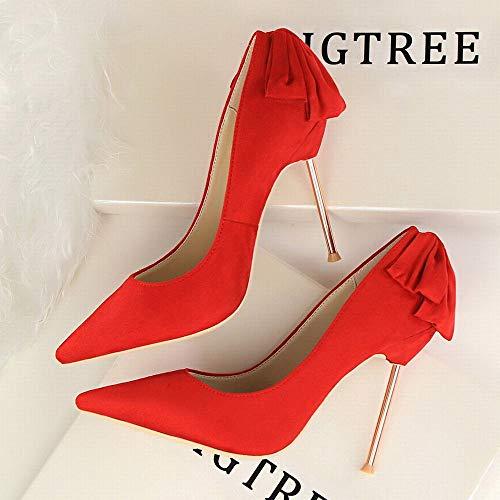Daim Joyiyuan Aiguille De Rouge Mesdames Avec Slim Chaussures Mariage Sexy Talons Talon Mariage En Mode Hauts vqvwTFRxWr