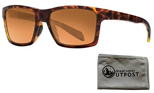 Native Eyewear Flatirons, Desert Tort Sunglasses With Bronze Reflex Lenses and - Native Nose Eyewear Pads