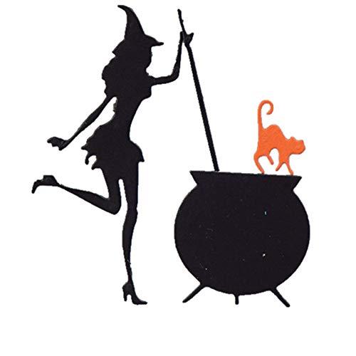 Halloween Cutting Dies Witch Pumpkin Die-Cut for Card Making Scrapbooking Photo Album (Halloween Witch 6 Packs)]()