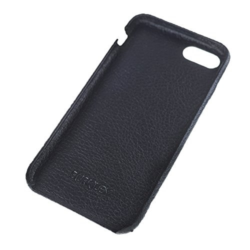 Burkley Case Full Leather Ultra Slim Snap-on Case for Apple iPhone 8/7 | Everyday Luxury Leather Case | Floater Black by Burkley Case (Image #3)