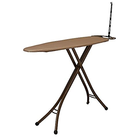 Household Essentials 888100-1 Deluxe 4-Leg Ironing Board, Copper - Hide Laundry Holder