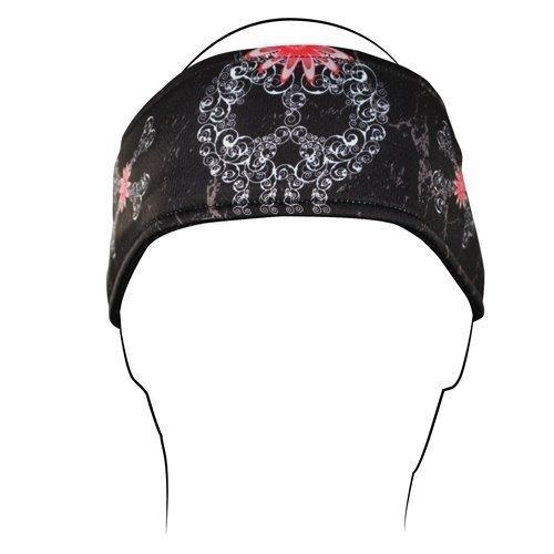 Filagree Design - Zanheadgear Filagree Skull Headband (Black)