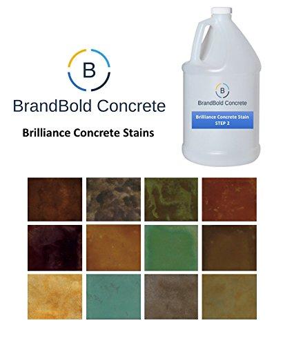 BrandBold Brilliance Concrete Acid Stain - 14 Brilliant Colo