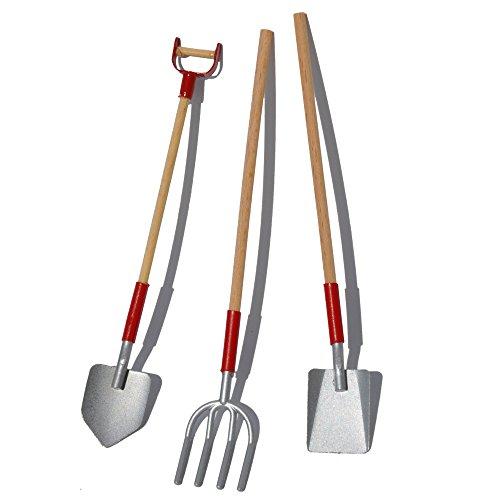 Darice miniature fairy garden wood metal garden tool set for Outdoor tools for sale