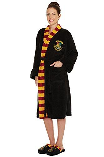 Official Ladies Harry Potter Hogwarts Crest Adult Black Dressing ...